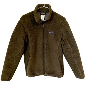 Patagonia Synchilla Brown Fleece Jacket Hiking L